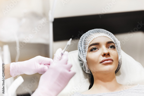Preparation process for the lip enhancement  The doctor