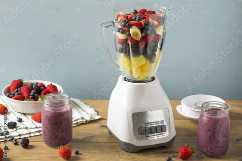 Organic Healthy Fruit in a Blender