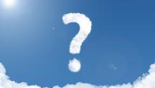 Question Mark Cloud Sky
