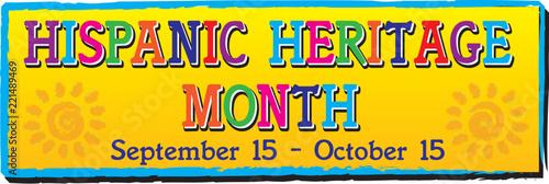 Fotografie, Obraz  Hispanic Heritage Month Banner