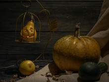 Still Life Of Autumn Pumpkins ...