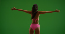 Rear View Of Backlit Woman In ...