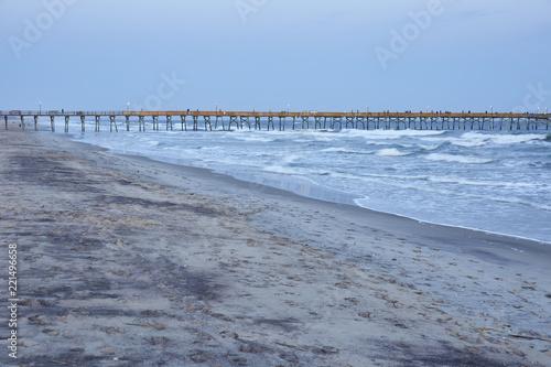 Fotografie, Obraz  Fishing pier at Atlantic Beach, North Carolina in April 2018