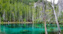 Grassi Lakes In Canmore, Alber...