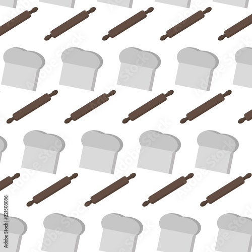 Photo  rolling pin and chef hat background