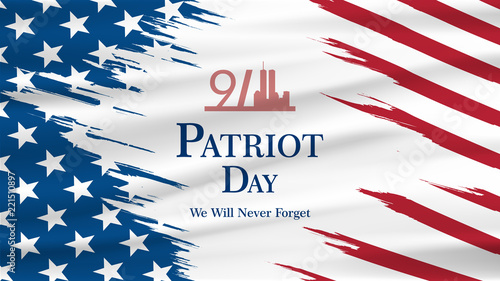 Cuadros en Lienzo Patriot day USA Never forget 9