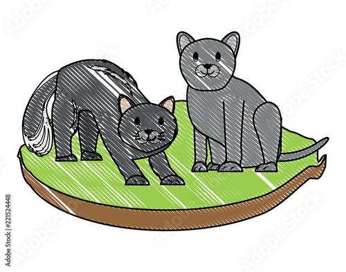Printed kitchen splashbacks Cats cute cats design