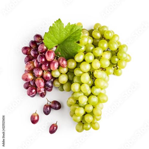 Grape with leaf. Fototapete