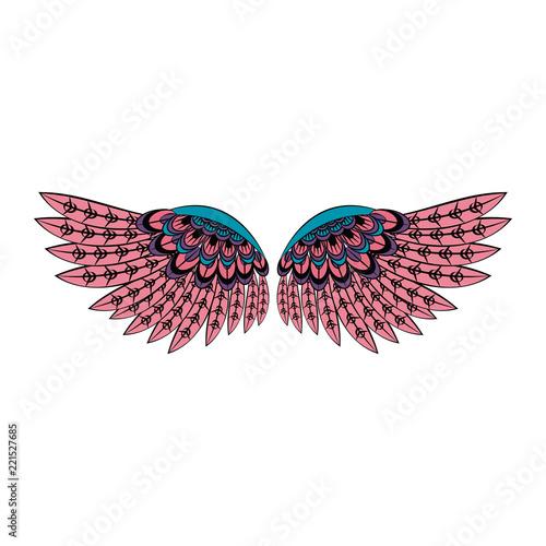Bird wings isolated Fototapet