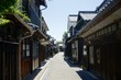 view of an old town of osaki- shimoshima, japan