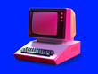canvas print picture - 80s style personal computer