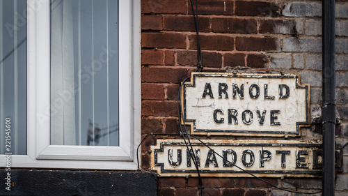 Fotografie, Obraz Street sign Arnold Crove, Liverpool, UK