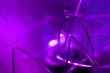 canvas print picture - Decorative purple tungsten lamp parts, macro