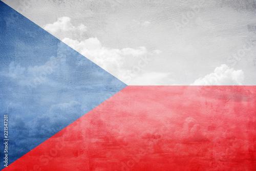 Photo  Czech Republic flag illustration