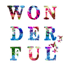 Colorful Word Wonderful Letter...