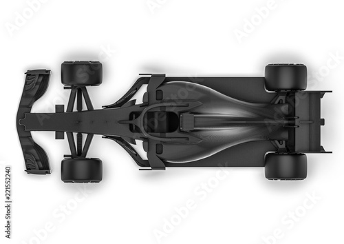 Recess Fitting F1 F1 car radiography / 3D render image representing an F1 car radiography