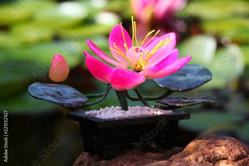 Staande foto Lotusbloem lotus ceramic figure garden