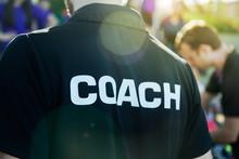 Sport Coach In Black Shirt Wit...
