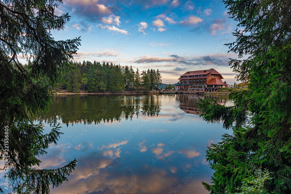 Mummelsee At Dawn, Black Forest / Schwarzwald Germany