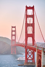 Golden Gate Bridge At Sunset, ...