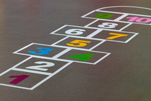 Hopscotch Game Drawn On To A Pavement