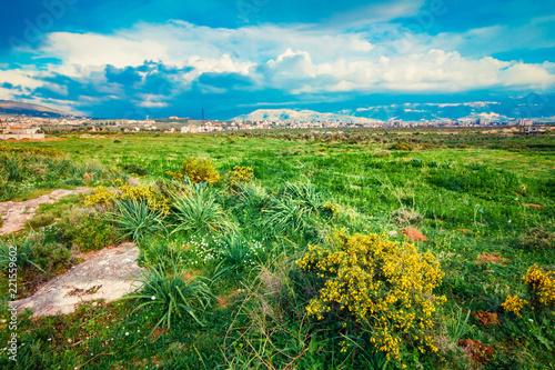 Tuinposter Groene Nature scenic landscape near Tripoli, Lebanon