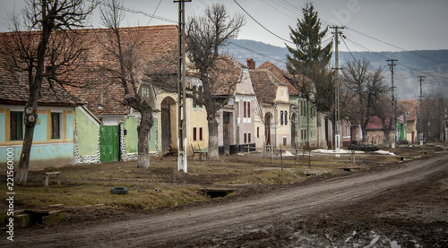 Staande foto Oost Europa The Romanian village Viscri,