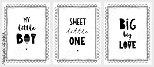 Hand Drawn Posters with a Cute Quotes. Delicate Lace Style ...