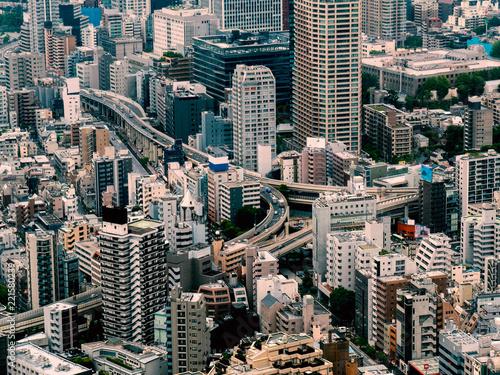 Pinturas sobre lienzo  Tokyo cityscape : Japan