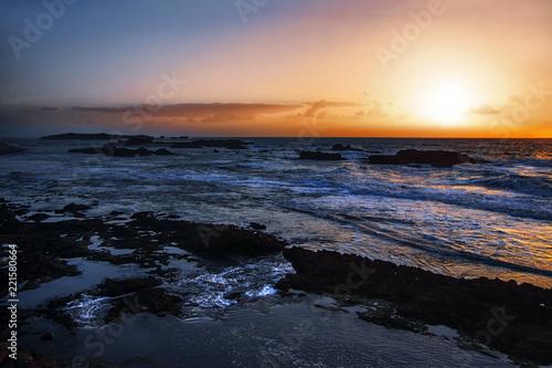 Spoed Foto op Canvas Zee zonsondergang sunset over the sea