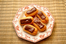 Five Chocolate Covered Eclairs