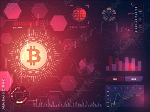 Head-up display of a bitcoin trading platform