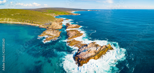Photo sur Toile Amérique du Sud Aerial photograph of Canal Rocks in Yallingup, between the towns of Dunsborough and Margaret River in the South West region of Western Australia, Australia.
