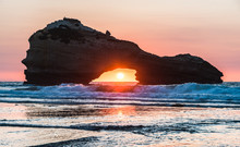 Sunset On A Beach In Biarritz ...