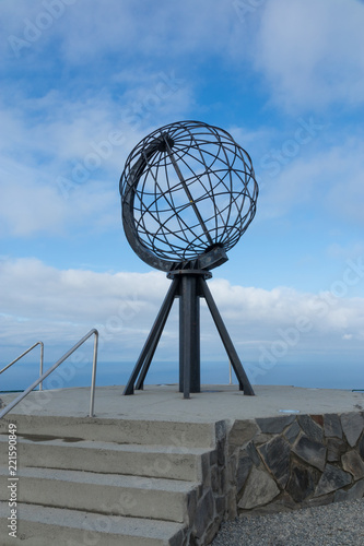 Poster Noord Europa North Cape Globe Sculpture