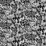Wektorowy graffiti oznacza bezszwowego wzór, druku projekt.