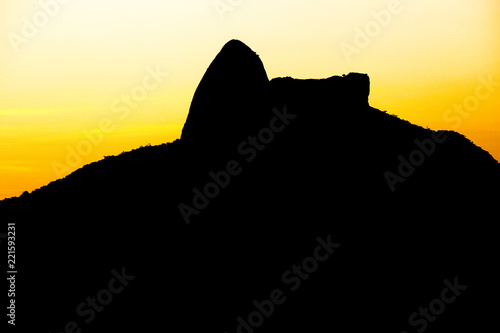 Sunset on the hill of Cantagalo