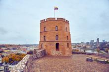 Gediminas Castle Tower In Vilnius, Lithuania