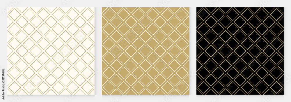 Fototapeta Pattern seamless diagonal square abstract background gold luxury color geometric vector.