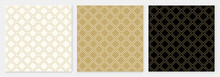 Pattern Seamless Diagonal Square Abstract Background Gold Luxury Color Geometric Vector.