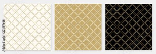 Obraz na plátně Pattern seamless diagonal square abstract background gold luxury color geometric vector