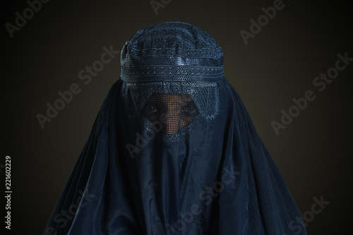 Eastern woman wearing the burqa