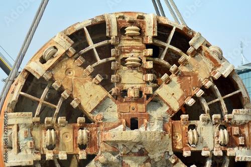 Keuken foto achterwand Schip Tunnel Boring Machine at subway construction site
