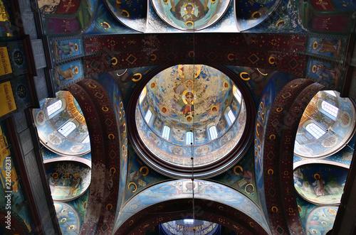 Obraz na plátně New Athos, Abkhazia. frescoes on walls of monastery