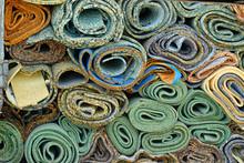 Disposed Rolls Of Carpet Paddi...