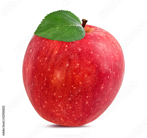 Foto op Aluminium Vruchten Fresh red apple isolated on white background with clipping path