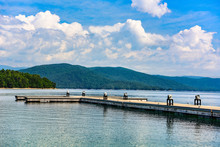 Lake Jocassee In Upstate South...