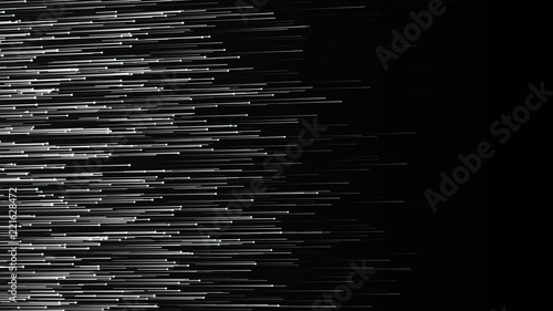 Abstract lines background. Connection structure. Geometric background. Abstract polygonal space. 4k rendering.