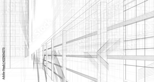 Fototapeta concept architecture 3d illustration obraz