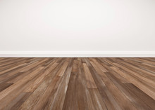 Wood Floor And White Wall, Emp...
